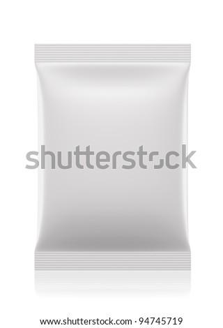 3D sachet bag package - stock photo