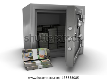 3D safe and Kuwait money