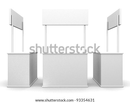 3D sale curve desk wrap advertising on a white background. 3d render illustration - stock photo