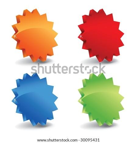 3d sale labels - stock photo