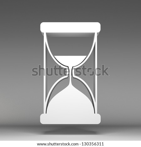 3d Sand watch icon - stock photo