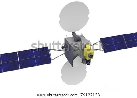 3d satellite geostationary isolated on white background - stock photo
