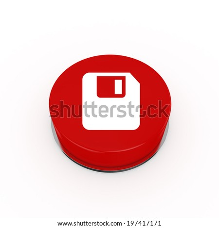 3d Save Web Button - isolated