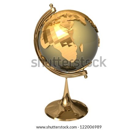 3d School globe - stock photo