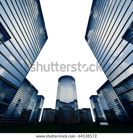 3d scrapers - stock photo