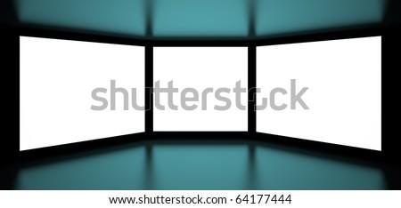 3d Screens - stock photo