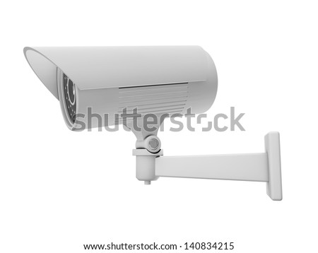 3d Security Camera or CCTV - stock photo