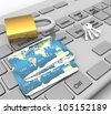 3d Security concept - stock photo