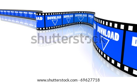 3D Segment color film with word download