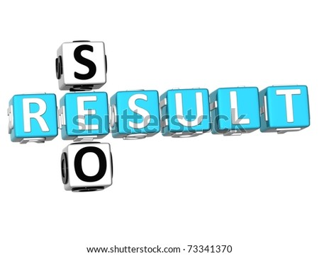 3D Seo Result Crossword on white background - stock photo