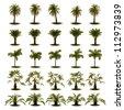 3D Set of Plam Tree - stock