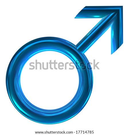 3d sex symbol Mars isolated on white - stock photo