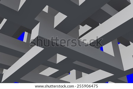3d shape. Geometric background