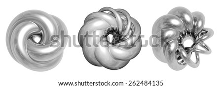 3D-shaping. Abstract 3D shape isolated on white. - stock photo