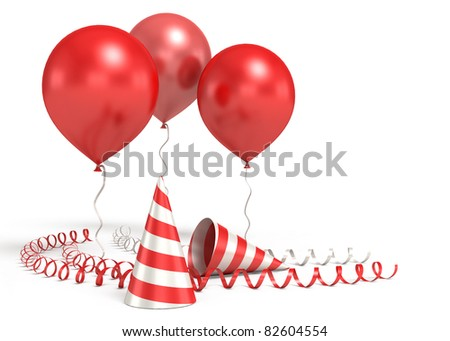 3d shiny ballons - stock photo