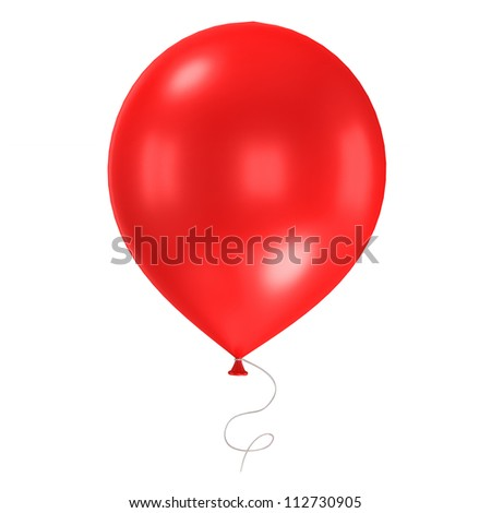 3d shiny  balloon isolated on white background - stock photo
