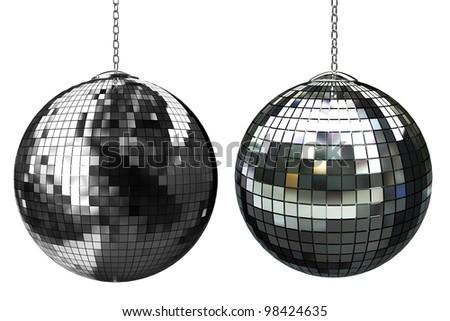 3d shiny disco ball - stock photo