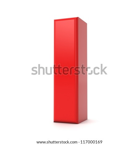 3d shiny red letter collection - I - stock photo
