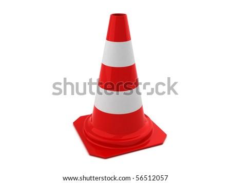 3D shiny Road Cone - stock photo
