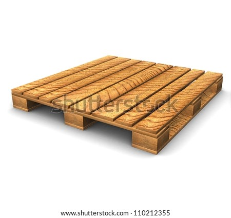 3d Shipping pallet - stock photo