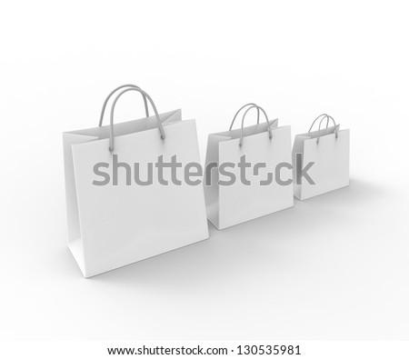 3d shopping bag. 3d render - stock photo