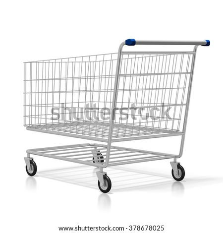 3D shopping cart - great for topics like buying products, store, mall, consumerism, retail etc.