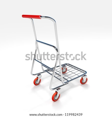 3D Shopping Trolley - stock photo