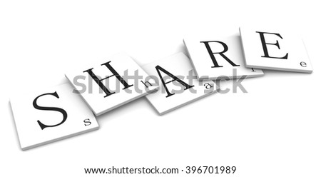 3D sign word: Share