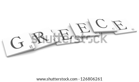 3D Signs word: Greece - stock photo