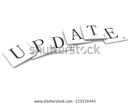 3D Sigs Word update - stock photo