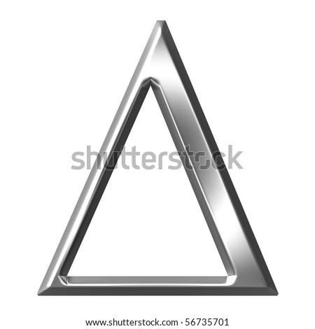 3d Silver Greek Letter Delta Stock Illustration