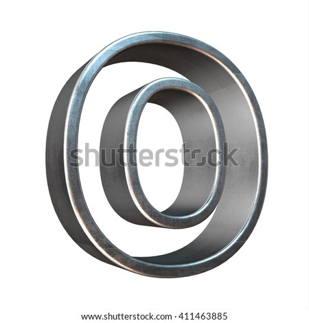3d silver metal frame letter rendering with silver metal empty line alphabet, 3d render, 3d illustration