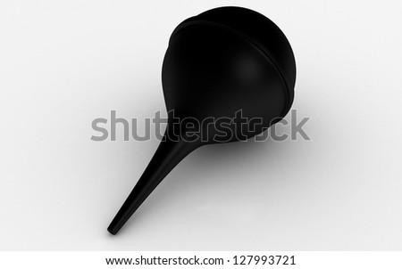 3d sinus spray bulb - stock photo