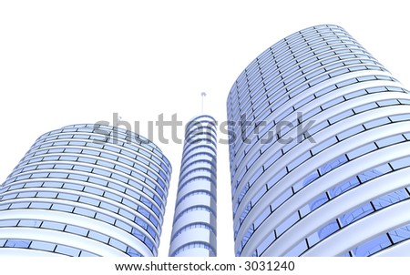 3d--skyscraper - stock photo