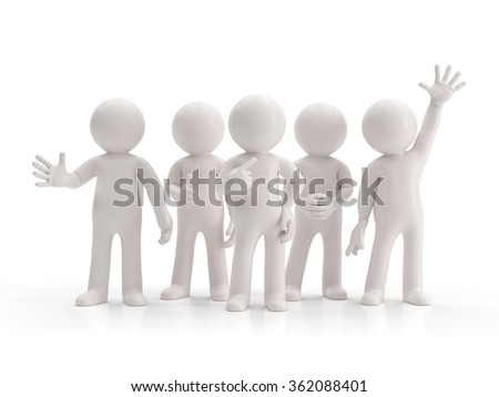 3d small people - best group - stock photo