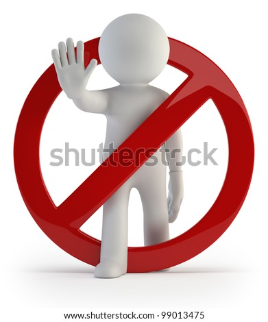 3d small people - dont do it! - stock photo
