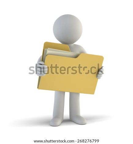 3d small people - files - stock photo