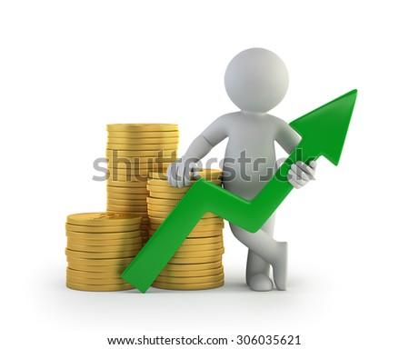 3d small people - good profit - stock photo