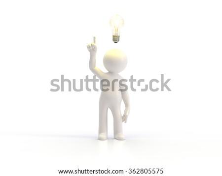 3d small people - idea - stock photo