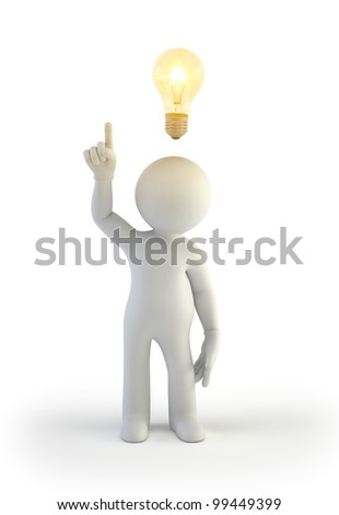 3d small people - idea - stock photo