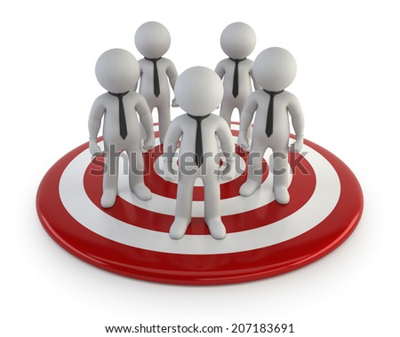 3d small people - Lead Management - stock photo