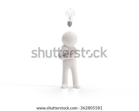 3d small people - no idea - stock photo