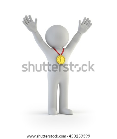 3d small people - Win - stock photo