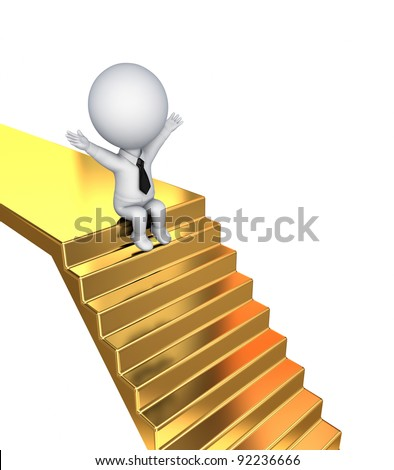 Golden Staircase Stock Images Royalty Free Images