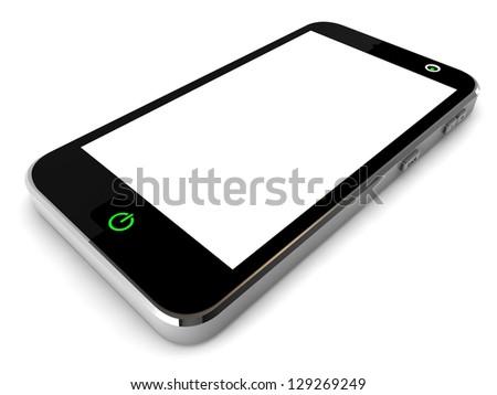 3d smart phone - stock photo