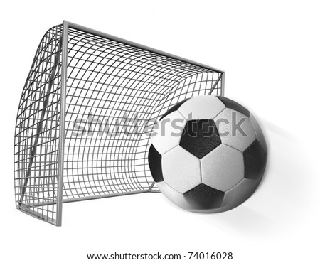 3d  soccer ball  and gates