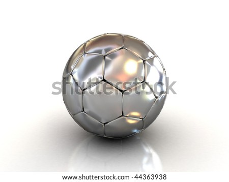 3d soccer ball isolated