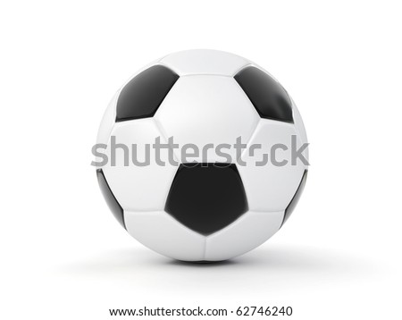 3d soccer ball isolated on white - stock photo