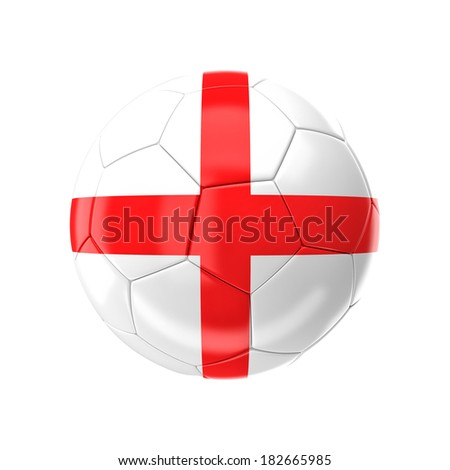 3d soccer ball with england flag - stock photo