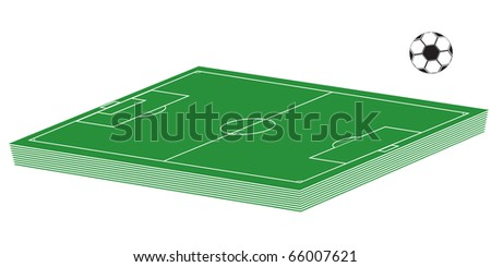 3D soccer court and ball